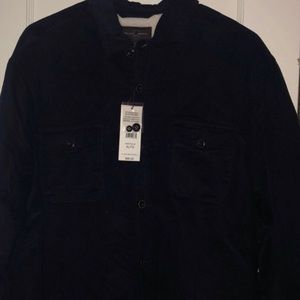 SHERPA LINED BUTTON UP! // NWT // SIZE LARGE